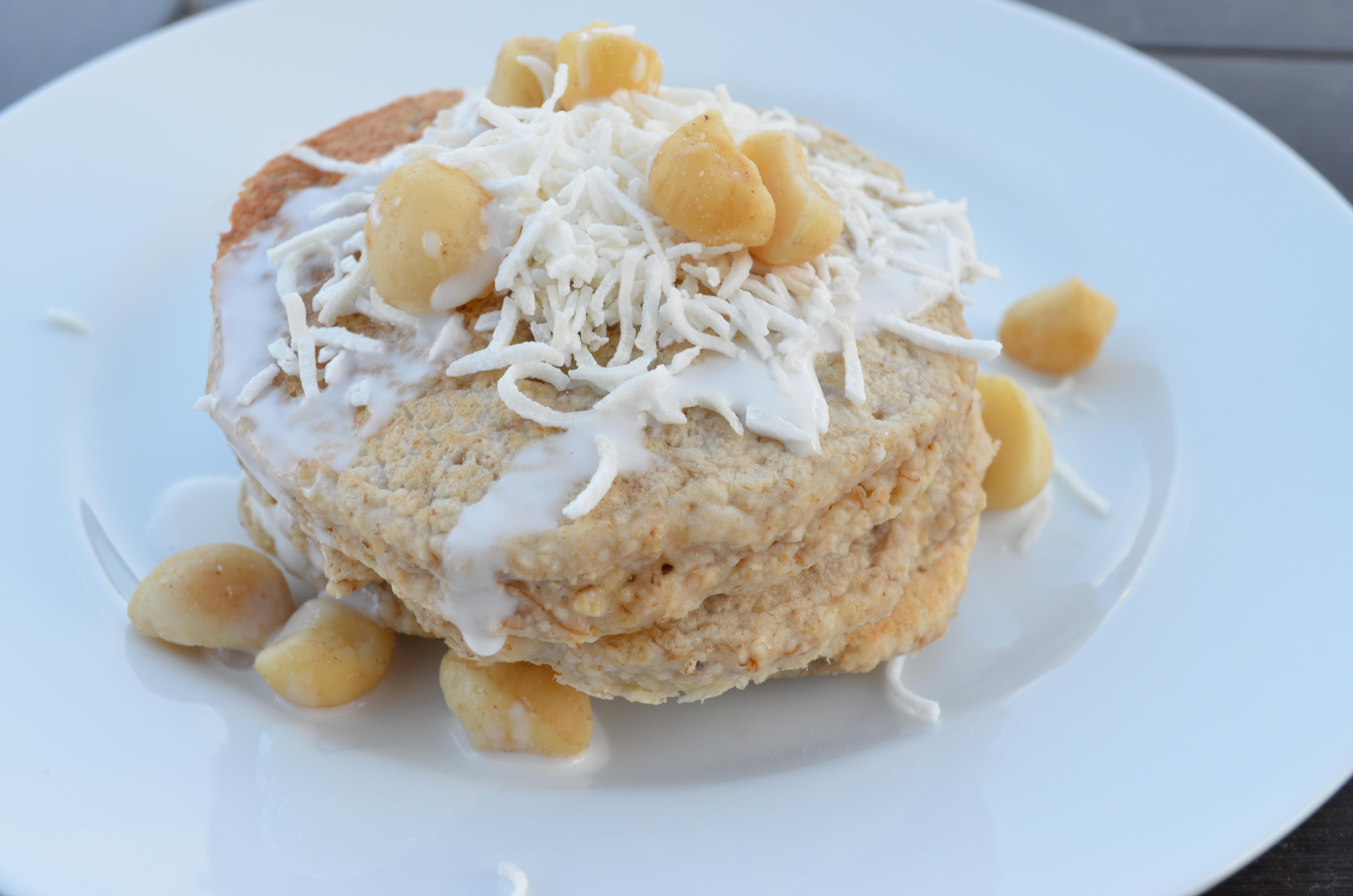 Macadamia Nut Banana Pancakes